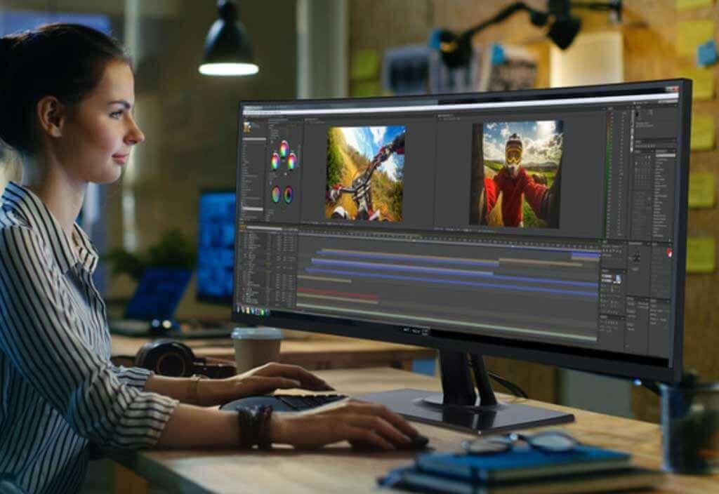 Monitores con altavoces para profesionales